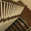 Distressed Hickory Hardwood Staircase