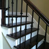 Distressed Red Oak Hardwood Staircase